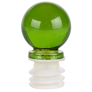 Lime Green Glass Decorative Bottle Topper