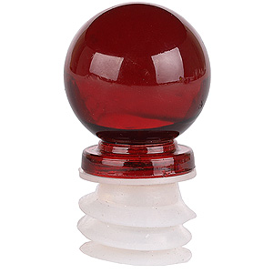Red Glass Decorative Bottle Topper